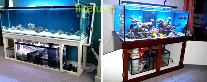 Какой выбрать фильтр для большого аквариума нестандартных размеров