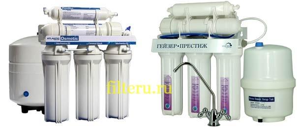 Фильтры для воды с осмосом и минерализатором