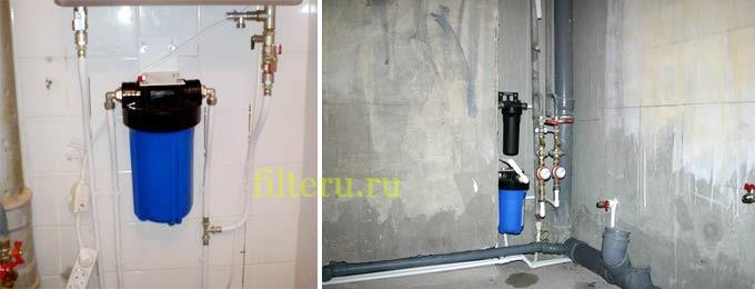 Как установить фильтр грубой очистки воды