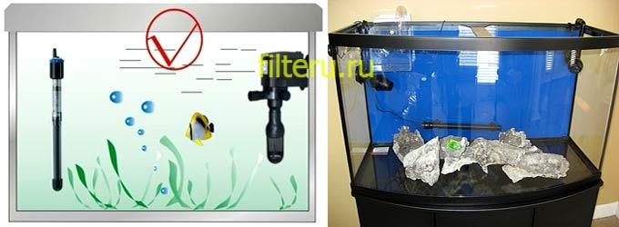 Где установить фильтр в аквариуме
