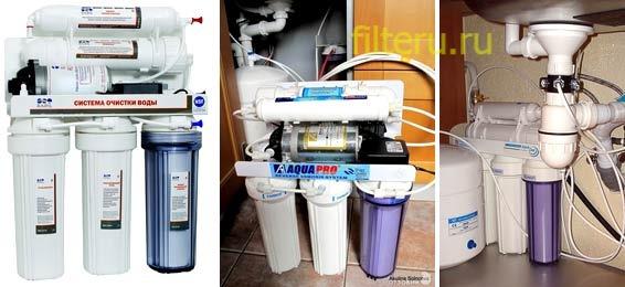 Какое требуется обслуживание фильтров для воды
