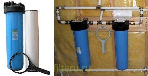 Как открутить колбу фильтра для воды