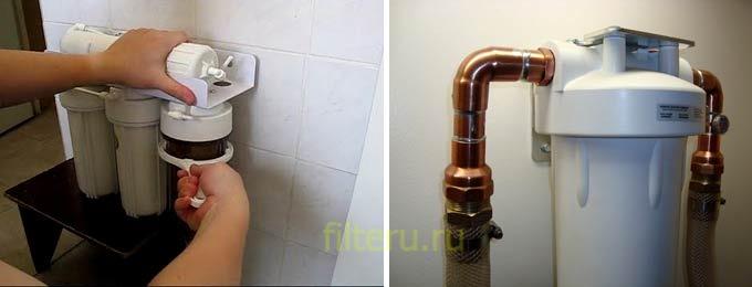 Как открутить фильтр для воды порядок работы