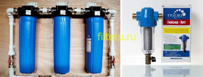 Как работают магистральные фильтры для воды на даче