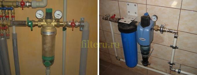Виды фильтров грубой очистки воды для квартиры