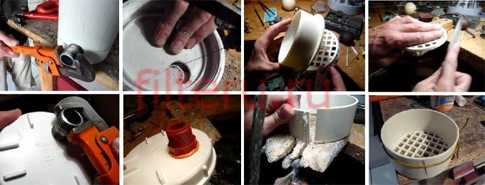 Как самому сделать внутренний фильтр для аквариума в домашних условиях