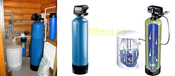 Фильтр обезжелезивания и умягчения воды