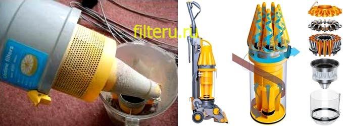 Циклонный фильтр в пылесосе — плюсы и минусы