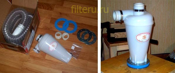 Промышленный пылесос с циклонным фильтром
