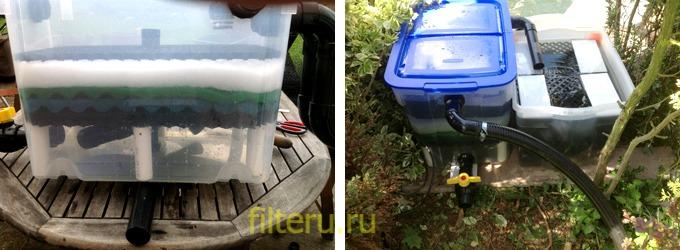 Сделать фильтр для пруда с рыбами своими руками