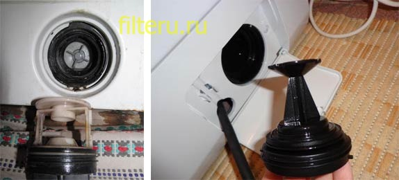 Где у стиральной машины фильтр