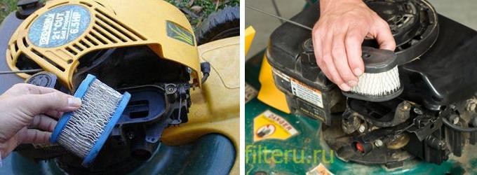 Как поменять воздушный фильтр для газонокосилки после лета