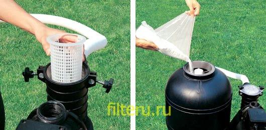Как промыть песочные фильтры для бассейна