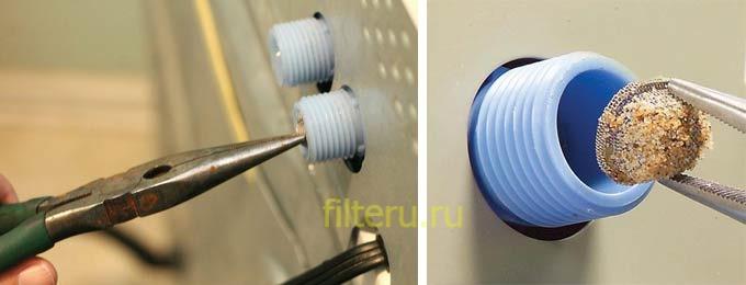 Как открыть фильтр в стиральной машине