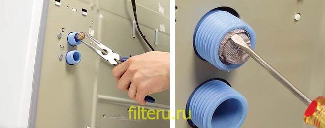 Как почистить фильтр насоса стиральной машины