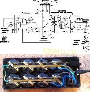 Электронные схемы сетевых фильтров