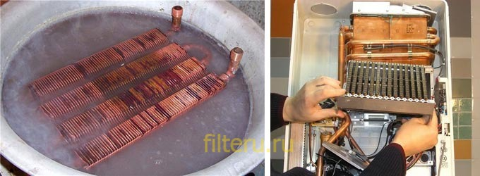 Чем почистить теплообменник двухконтурногогазового котла для чего нужен теплообменник в системе отопления