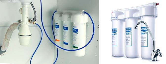 Обслуживание фильтров для воды Аквафор