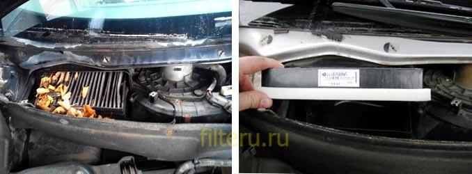 Инструкция как поменять фильтр салона на приоре