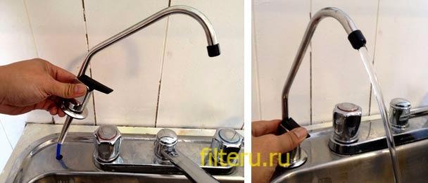 Принцип работы смесителя с фильтром для питьевой воды