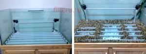 Донный фильтр в аквариуЦветы из кожи кЁлка