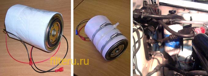Как установить обогреватель топливного фильтра своими руками