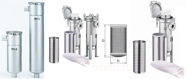 Мешочный фильтр для очистки воды МВН