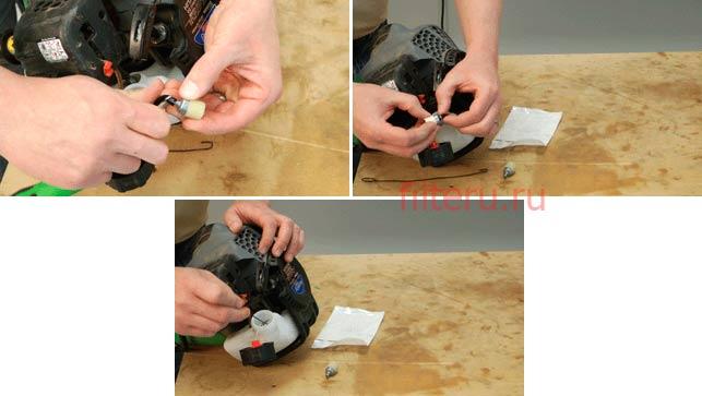 Как правильно поменять топливный фильтр триммера
