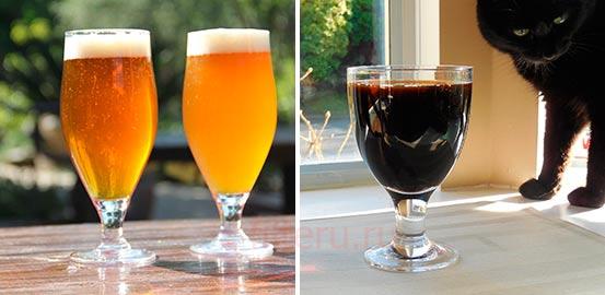 Визуальное отличие фильтрованного и не фильтрованного пива