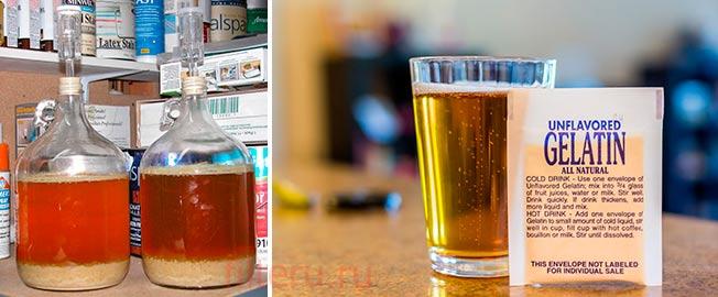 Фильтрация пива желатином