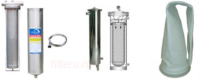Мешочный фильтр для воды Гейзер