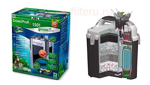 Аквариумный фильтр JBL Cristal Profi e1501