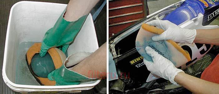 Пропитка воздушного фильтра в профессиональных условиях