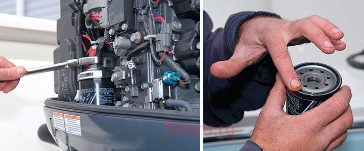 Замена топливного фильтра лодочного мотора