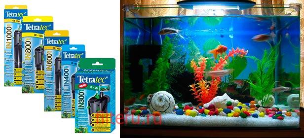 Внутренние фильтры для аквариума Tetra