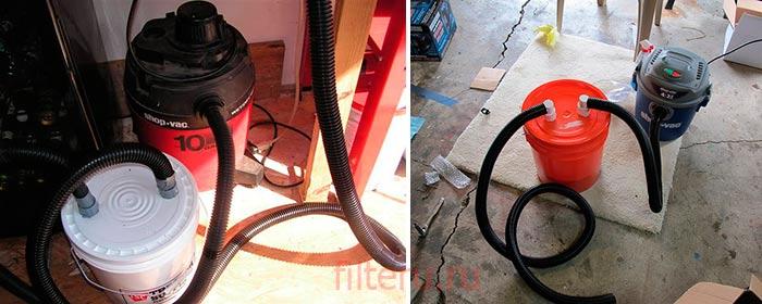 Водяной фильтр для пылесоса из подручных средств