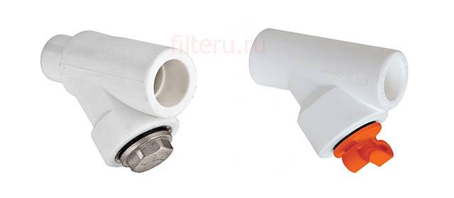 Впаиваемый полипропиленовый фильтр-грязевик