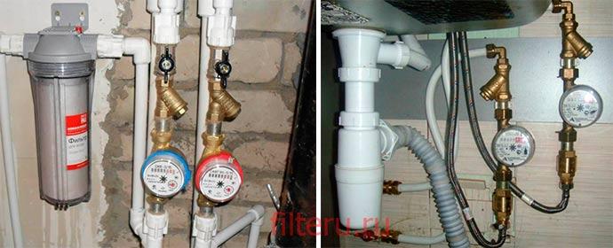 Как установить фильтр-грязевик перед счетчиком воды