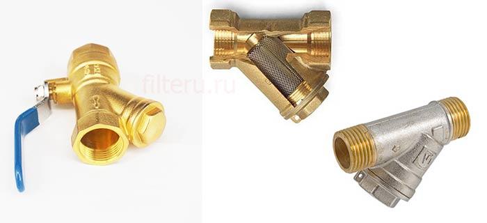 Металлический сетчатый фильтр воды