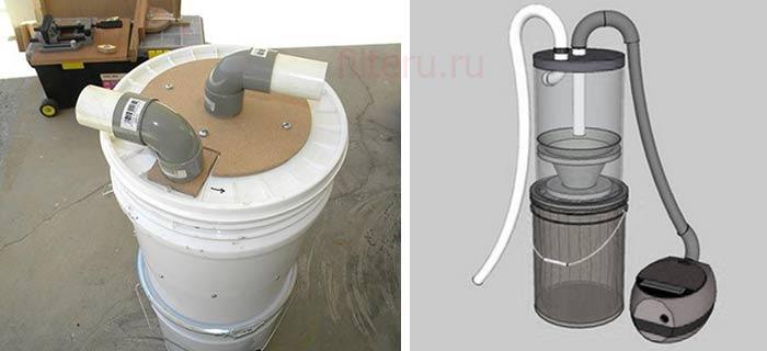 Поэтапный процесс сборки циклонного фильтра для пылесоса