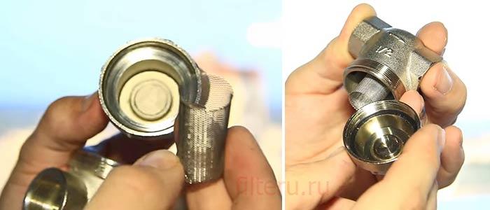 Устройство сетчатого фильтра воды