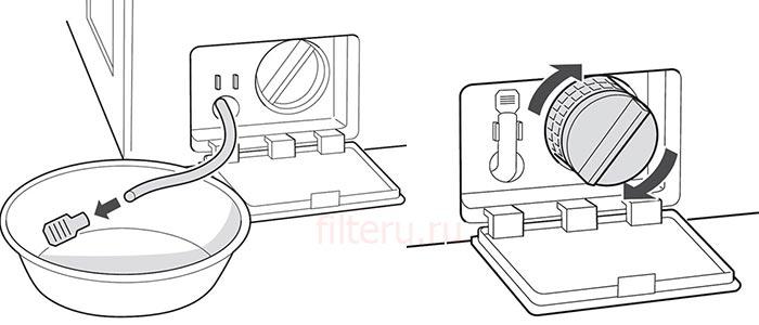 Чистка сливного фильтра стиральной машины LG