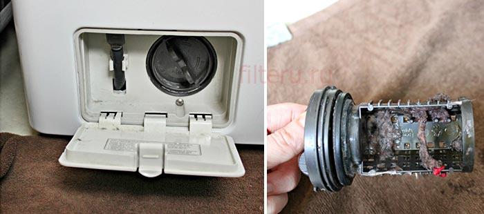 Почистить сливной фильтр стиральной машины Хотпоинт Аристон