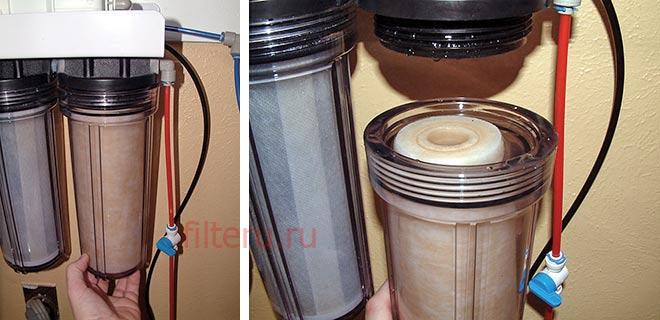 Как открутить фильтр для воды без ключа