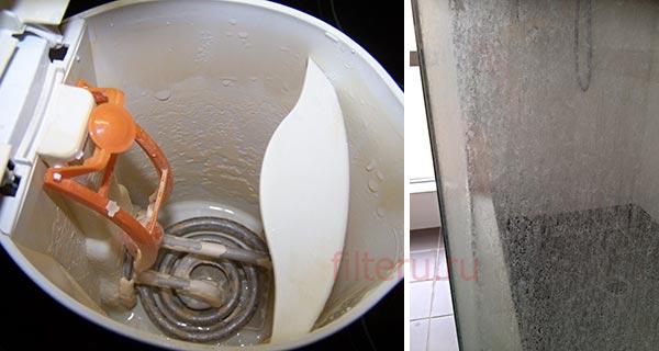 Накипь в чайнике и в ванной комнате