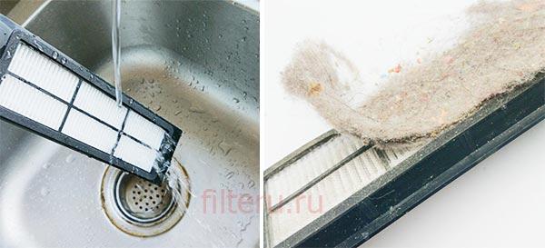 Как почистить фильтр робота-пылесоса